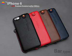 [iPhone 6] Premium Genuine Leather Bar Type Edition