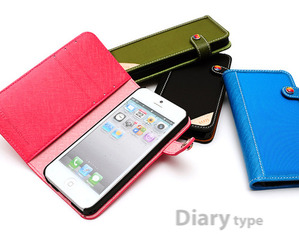 [iPhone5/5S] LIMS Innovative Material Edition - Diary type