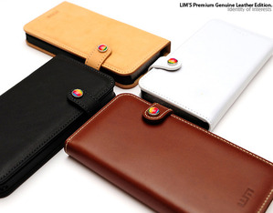 [iPhone5/5S] LIMS Premium Genuine Leather Edition - Diary Type