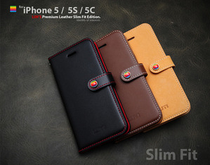 [iPhone 5/5S/5C] LIMS Premium Leather SlimFit Edition